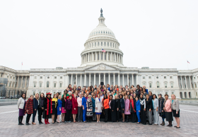 Group shot of the Women Members at the opening of the 116th Congress