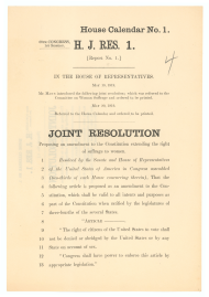 HJ Res 1, proposing an amendment to the Constitution extending voting rights to women