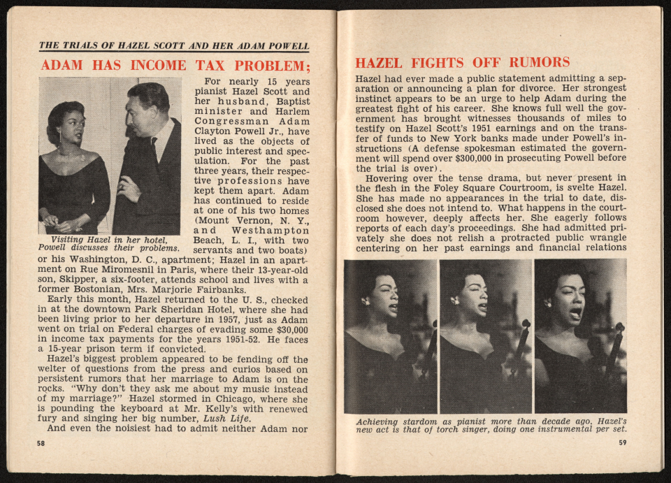 Jet Article About Adam Clayton Powell Jr. and Hazel Scott