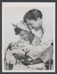 Adam Clayton Powell and Hazel Scott with Their Son