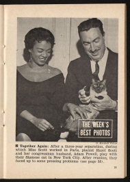 Hazel Scott and Adam Clayton Powell Jr. in Jet