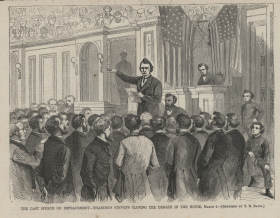 Thaddeus Stevens Gives the Last Speech During Debate on Impeachment