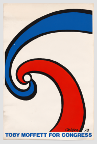Toby Moffett Congressional Campaign Poster Featuring an Abstract Artwork by Alexander Calder