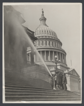 Firefighters Hose Down the Capitol in 1930