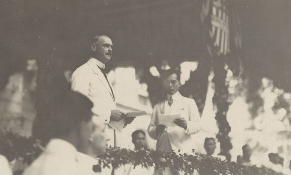 Manuel Quezon and Governor General Harrison