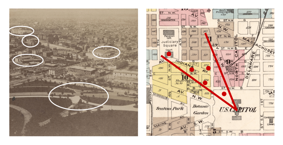 Locations of Details in the Stereoview