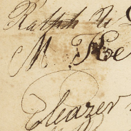 Detail of the Petition to Abolish Slavery in the District of Columbia
