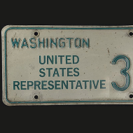 Detail of a 1972 Congressional License Plate