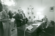 <em>Speaker of the House Carl Albert's Daily Press Conference, 1974</em>