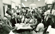 <em>Last Member Press Conference in Gallery, 1981</em>