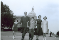 <em>Boggs Family Outside the Capitol, 1950</em>