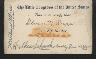 <em>Little Congress Club Card, c. 1935</em>