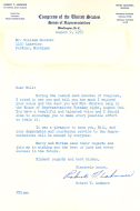 <em>Letter from Congressman Robert Ashmore of South Carolina to Bill Goodwin</em>
