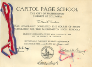 <em>Bill Goodwin's House Page School Certificate, 1955</em>