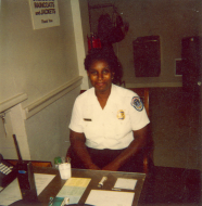 <em>Arva Marie Johnson at Her Post</em>