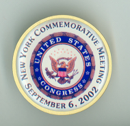 <em>New York City Commemorative Meeting Pin, 2002</em>