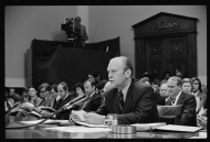 President Gerald R. Ford testified before a House Judiciary Committee subcommittee to explain his pardon of President Richard M. Nixon on October 17, 1974. Ford became the first sitting president since Abraham Lincoln to address a congressional investigating committee on Capitol Hill.