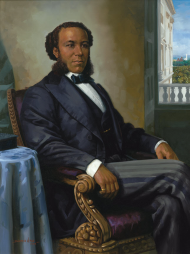 Elected in 1870, Representative Joseph Rainey of South Carolina, a former slave, served five terms in the House of Representatives.