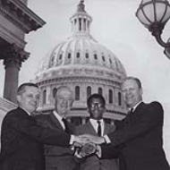 Frank Mitchell with Representatives Findley, Arends, and Minority Leader Ford