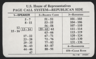 <em>U.S. House of Representatives Page Call System Card</em>
