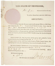"David ""Davy"" Crockett's Certificate of Election"
