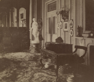 The Speaker's Rooms in the 1870s were just off the House floor.
