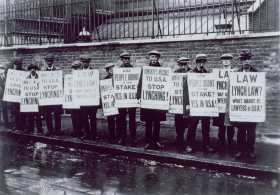 British NAACP Protesters