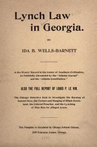Lynch Law in Georgia Pamphlet