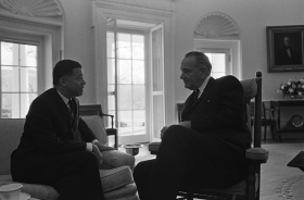 Edward Brooke Meets with President Johnson