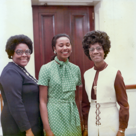 Cardiss Collins, Yvonne Brathwaite Burke, and Shirley Chisholm