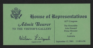 Visitor's Gallery Pass