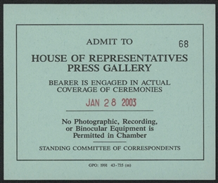 Press Gallery Pass