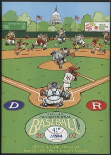 Congressional Baseball Game Program
