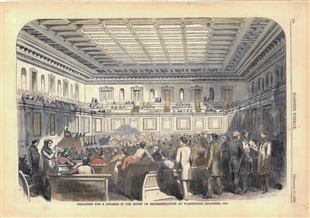 Balloting for a Speaker in the House of Representatives at Washington, December, 1859