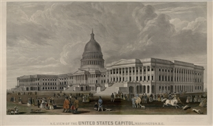 N.E. View of the United States Capitol, Washington. D.C.