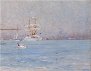 Peace (The White Squadron in Boston Harbor)