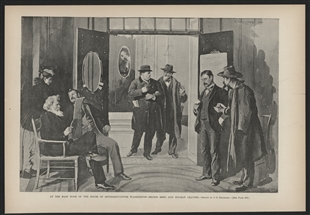 At the Main Door of the House of Representatives, Washington - Messrs. Reed and Holman Leaving