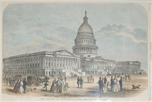 The Capitol at Washington, with the New Extensions