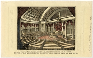 House of Representatives, Washington—Interior View of the Hall