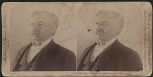Hon. David B. Henderson, Member of Congress from Iowa Stereoview