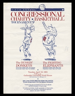 Congressional Charity Basketball Game Poster