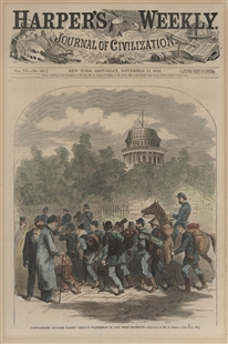 Convalescent Soldiers Passing Through Washington to Join Their Regiments