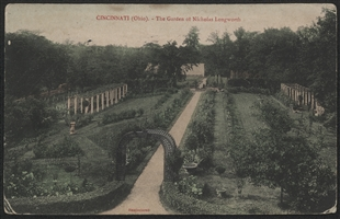 Cincinnati (Ohio). - The Garden of Nicholas Longworth Postcard