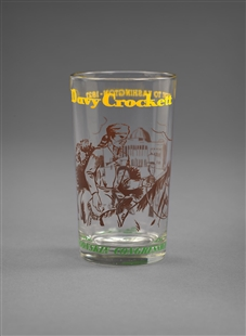 Davy Crockett Drinking Glass
