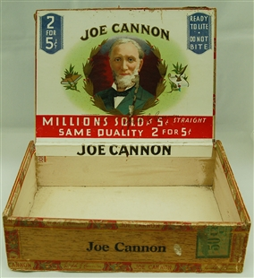 Joe Cannon Cigar Box