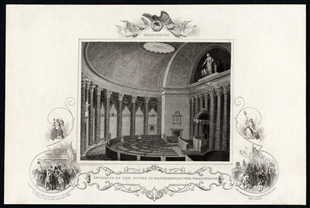 Interior of the House of Representatives, Washington
