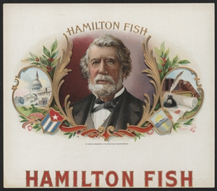 Hamilton Fish Cigar Box Label
