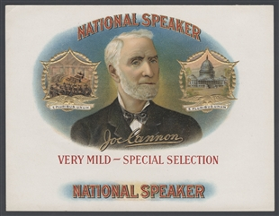 National Speaker Joe Cannon Cigar Label