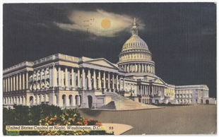 Capitol at Night postcard