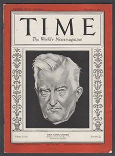 John Nance Garner, Time Magazine Cover